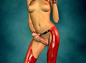 3D Redhead Femboy Flaunts Meaty Dick