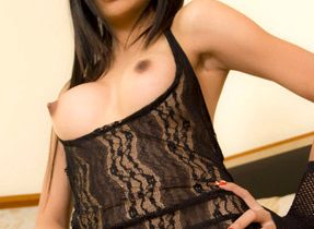 Black Lace Tgirl