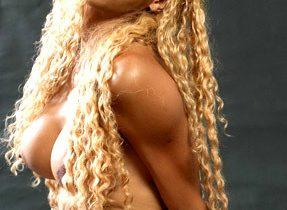 Busty Black Tgirl Nude Play