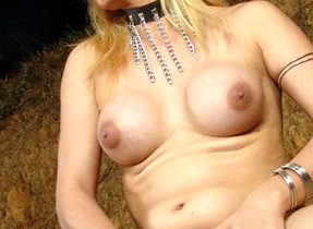 Busty Blonde Tranny Plays With Herself