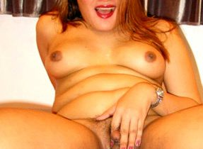 Chubby Transexual Cutie Flaunts Her Curves