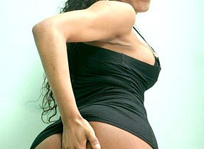 Curvaceous Assed Tgirl Poses Nude