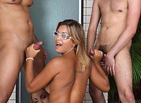 Dick Slutty T-Girl Craves Three Dicks
