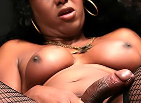 Ebony Femboy Flaunts Innocent Bum