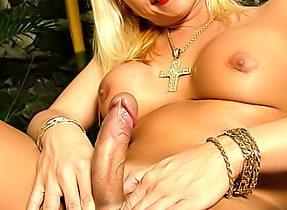 Enormous Tit Blonde T-Girl