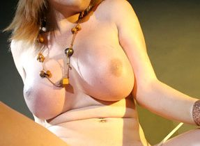 Enormous Titties On Curvy Transexual