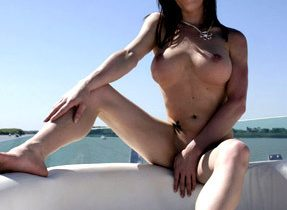 Fake Breasts Transexual On A Boat
