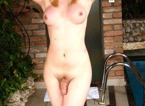 Femining Blonde Ts Exposing Big Dong
