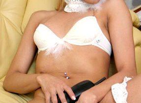 Gorgeous Blonde Transexual In Panties