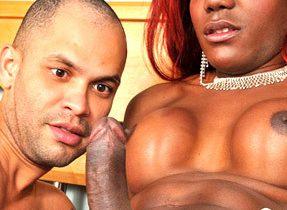 Hungry Black Tranny Tgirl Desires Dick