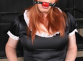 Hungry Tgirl Lucimay Gets Gagged