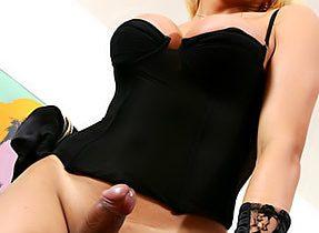 Ladyboy In Black Panties