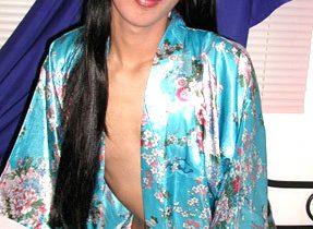Leggy Thai Transexual Shows Us Some Skin