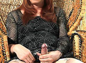 Mature TGirl Modeling Stockings