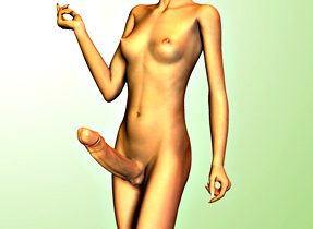 Slender Toon TGirl With Enormous Penis