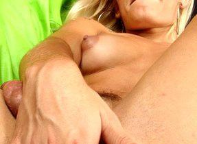 Starved Blonde Femboy Poses Naked