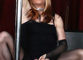 Suggestive Ladyboy Stripper