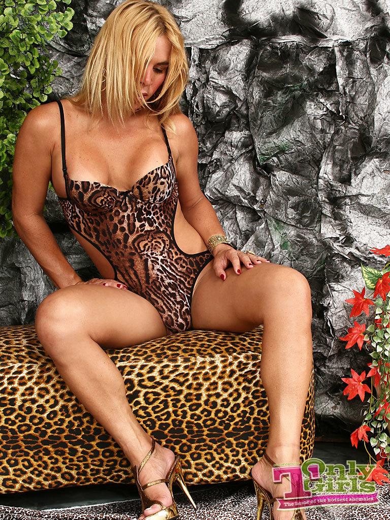 T-Girl Does A Striptease