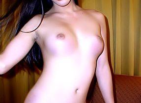 T-Girl Model Goes Nude