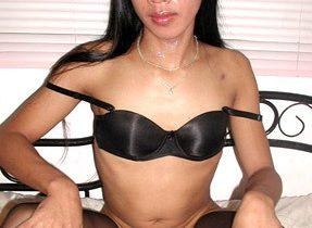 T-Girl Models Black Stockings