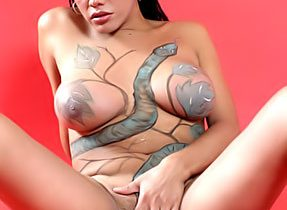 T-Girl With Body Paint