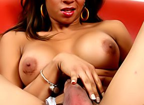 Tall Meaty Shemale Flashes Balls