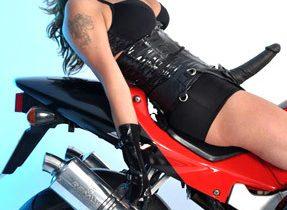 Tall Tgirl On A Motorbike