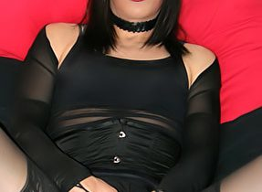 TGirl Gets Huge Penis Rough