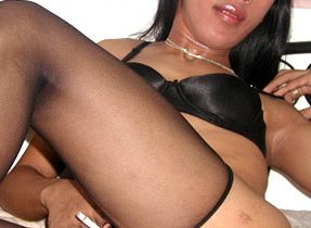 Wonderful TGirl Spreads Her Legs Wide